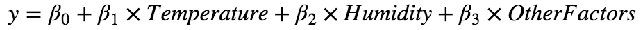 Linear Regression Equation Weather